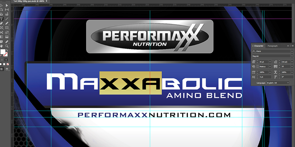 Performaxx Nutrition Label Kerning