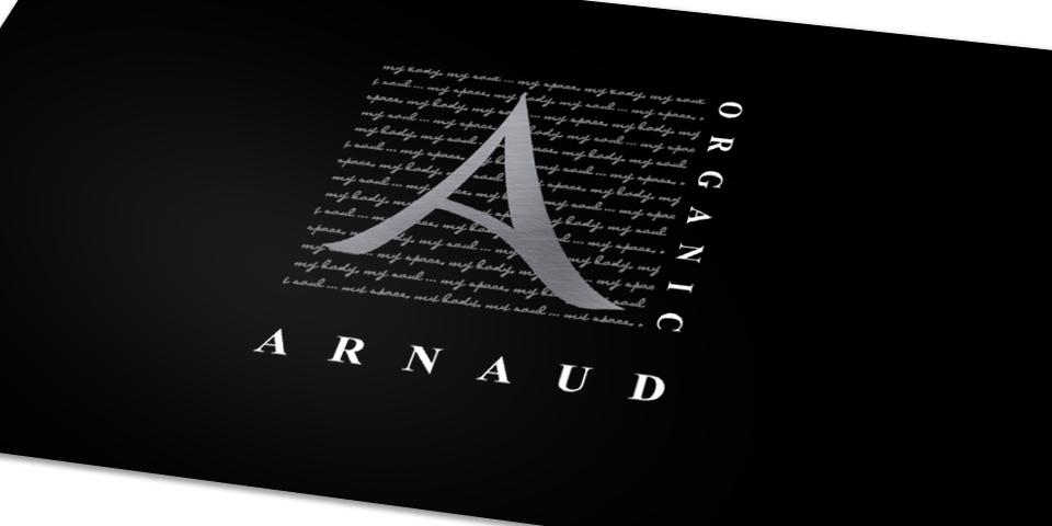 Arnaud Organic Business Card Front Detail