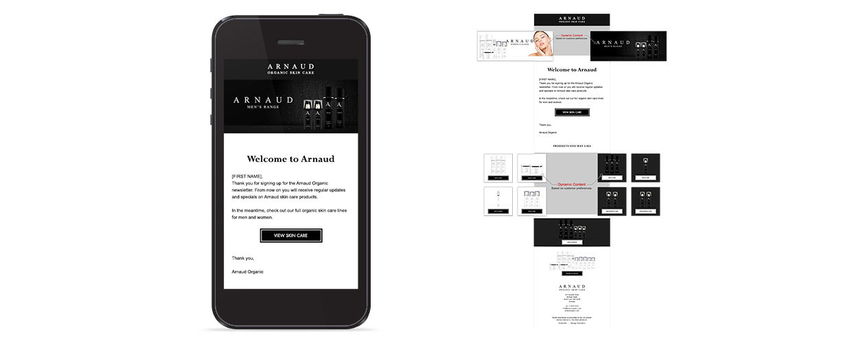 Arnaud Organic - Mobile Newsletter Welcome Email