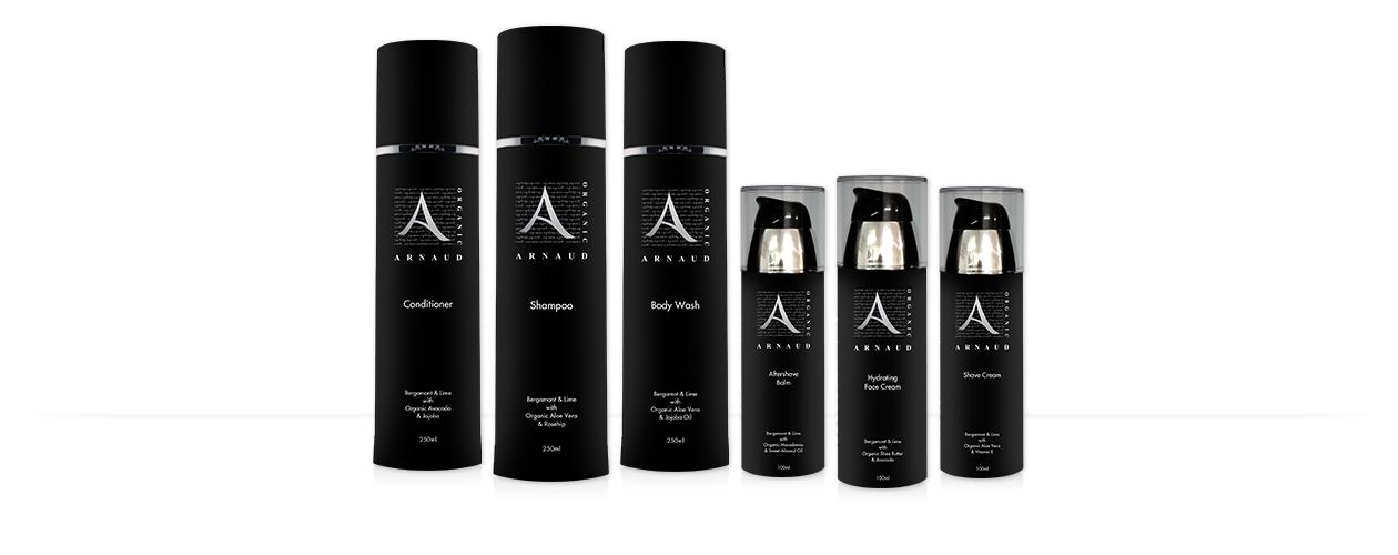 Arnaud Organic Men's Skin Care Range