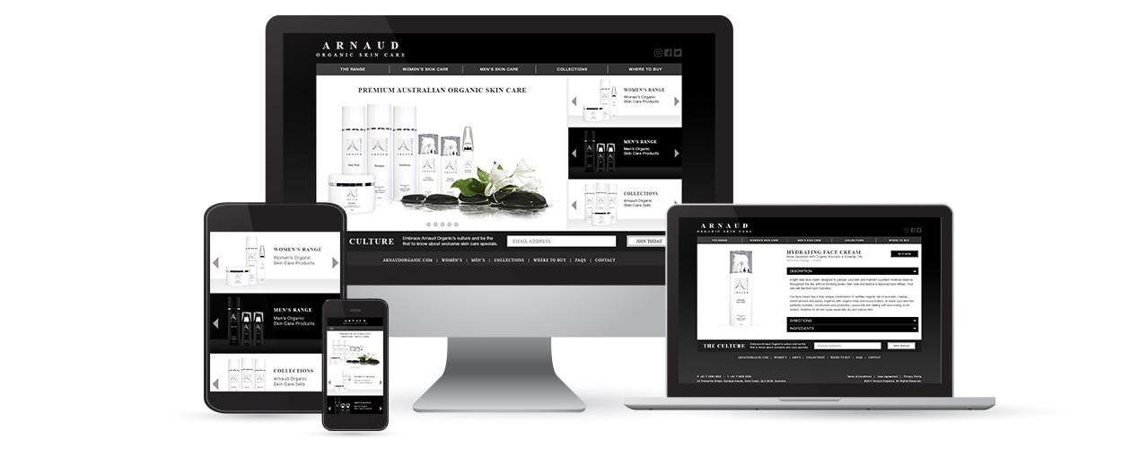 Arnaud Organic - Website Design & Development
