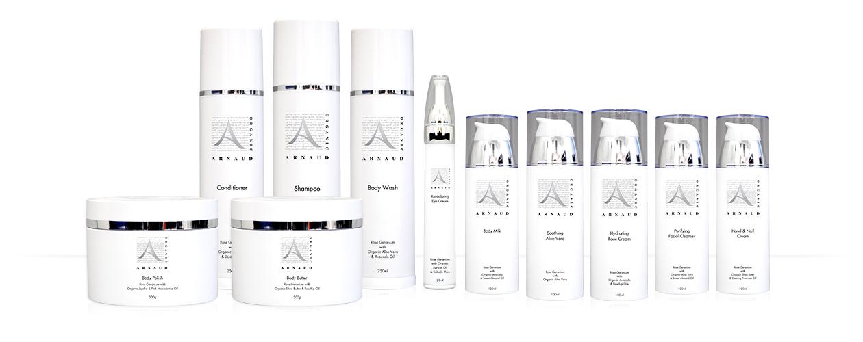 Arnaud Organic Women's Skin Care Range