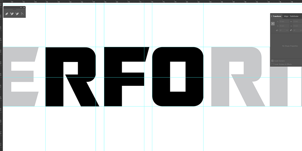 Performaxx Nutrition Logo Character Kerning