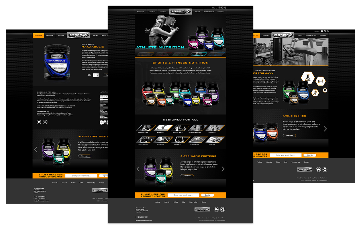 Performaxx Nutrition Website Design
