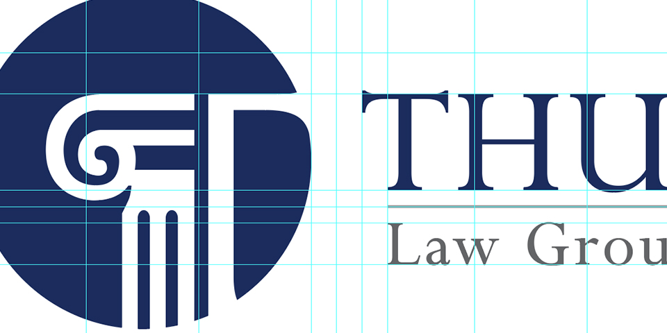 Thurin Law Group, PLLC. Logo Element Alignment