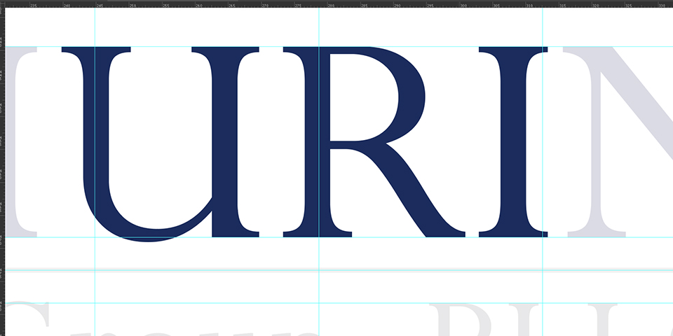 Thurin Law Group, PLLC. Logo Kerning