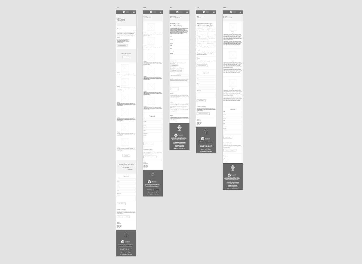 Thurin Law Group, PLLC. - Mobile Website Wireframe