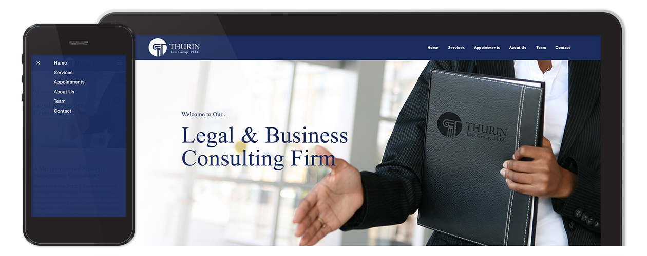 Thurin Law Group, PLLC. - Website Mobile & Desktop Navigation